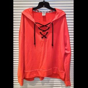 Victoria's Secret PINK Laced-Up Hoodie